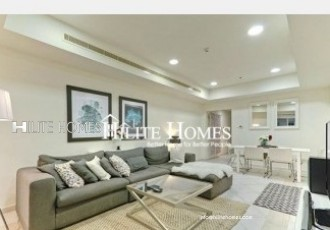 Modern sea view apartment with two bedroom in salmiya , close to Marina Mall