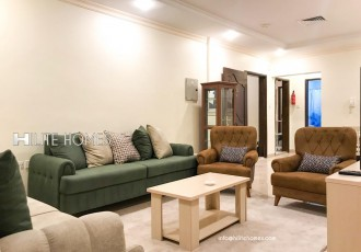 Fully furnished three bedrooms sea view apartment in Salmiya
